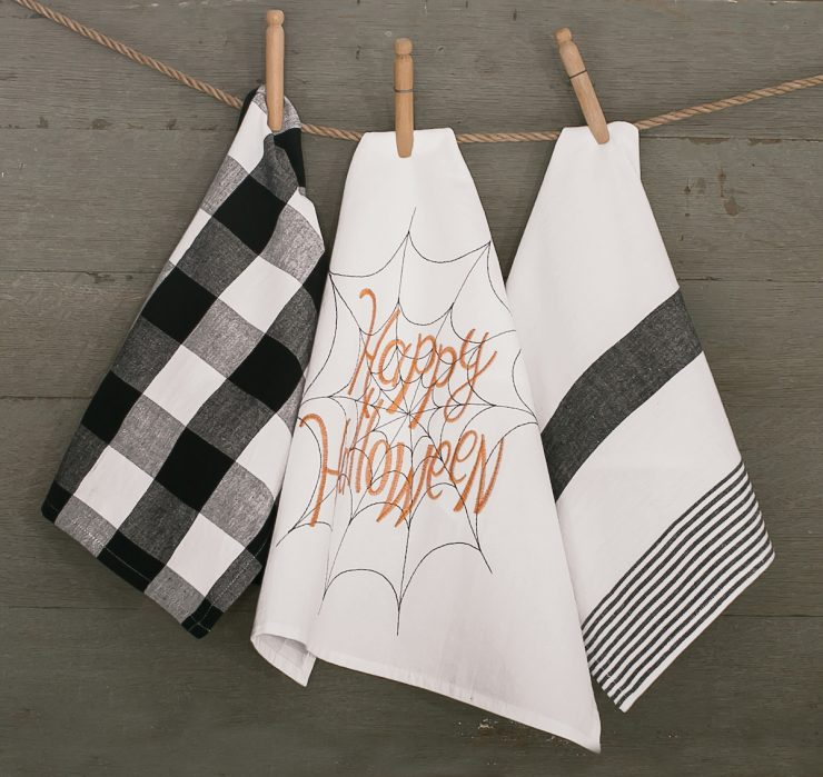A photo of the Happy Halloween Towel product