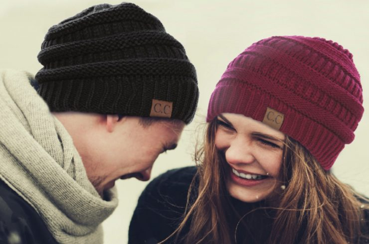 A photo of the Charming Cable Knit Hat product