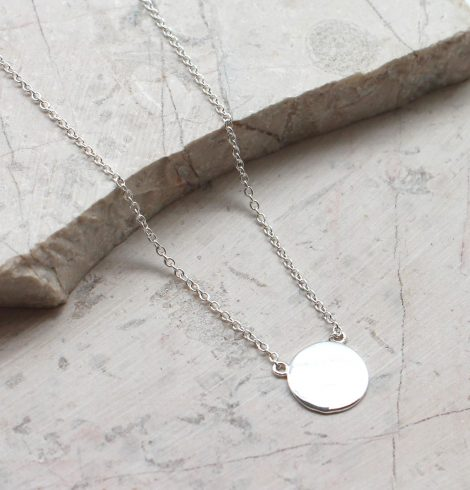 A photo of the Silver Stamp Necklace product