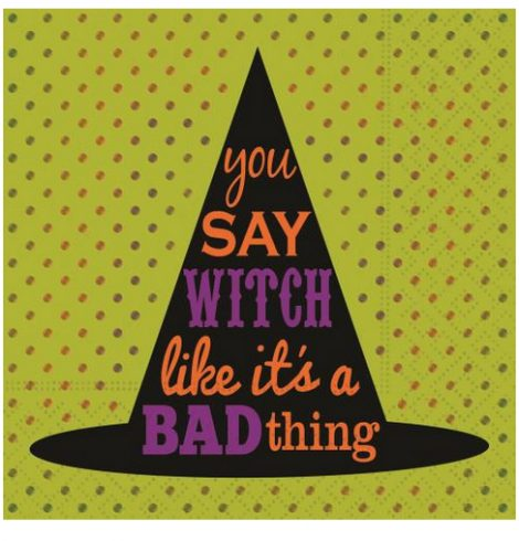 A photo of the You Say Witch Napkins product