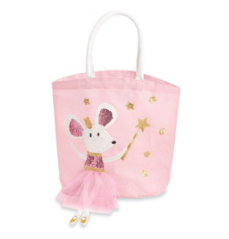 A photo of the Ballet Mouse Dangle Leg Mini Tote Bag product