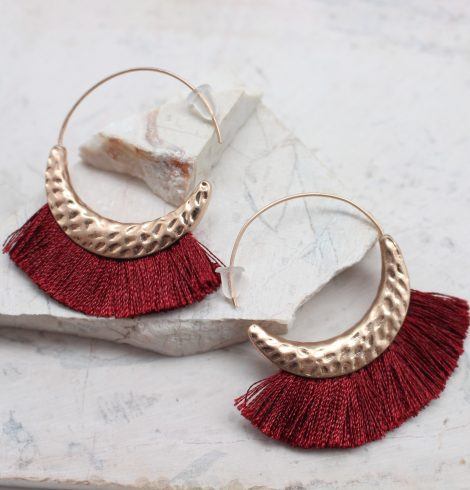 A photo of the All The Fringe Earrings product
