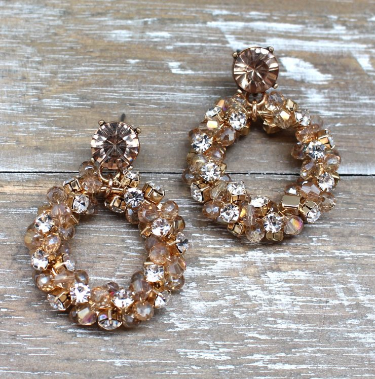 A photo of the Bead Crusted Earrings product