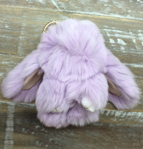 A photo of the Faux Fur Bunny Keychain product