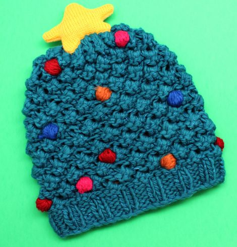 A photo of the Christmas Tree Beanie product