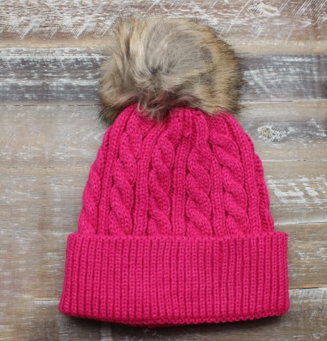 A photo of the Crochet Pom Pom Kids Beanie product