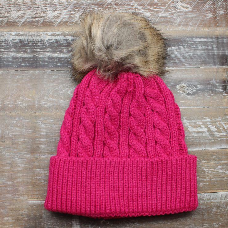 A photo of the Crochet Pom Pom Kids Beanie product