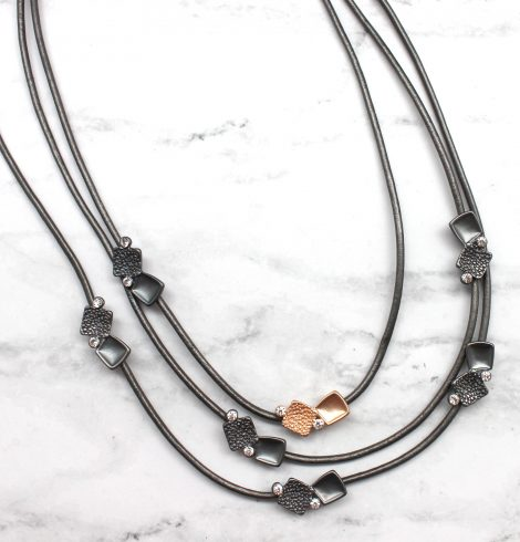 A photo of the Fashion Squared Necklace product