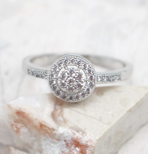 A photo of the Flower Rhinestone Ring product