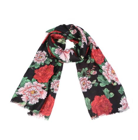 A photo of the Flowing Floral Scarf product