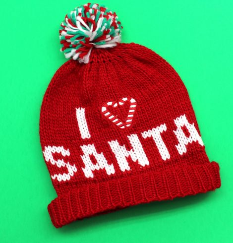 A photo of the I Love Santa Beanie product