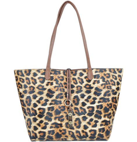 A photo of the Leopard & Camel Reversible Tote product