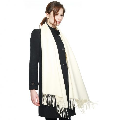 A photo of the Madison Scarf Ivory product