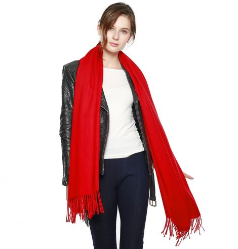A photo of the Madison Scarf Red product