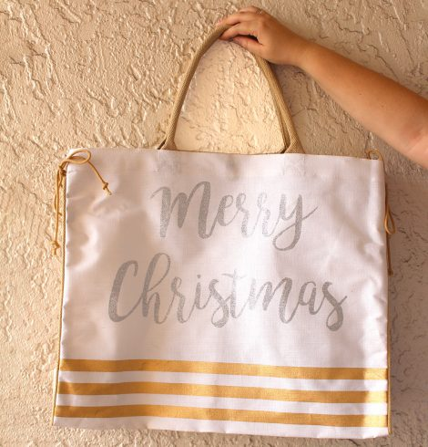 A photo of the Merry Christmas Jute Bag product