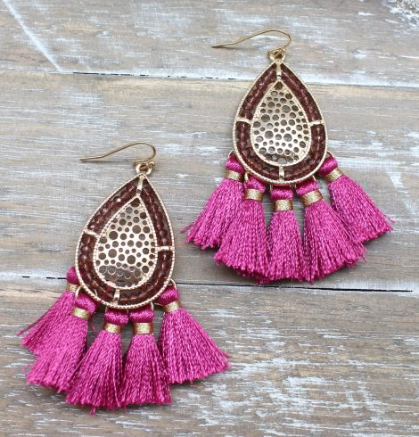 A photo of the Playful Tassel Earrings product