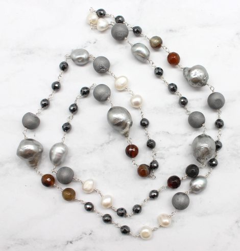 A photo of the Precious Pearl Necklace product