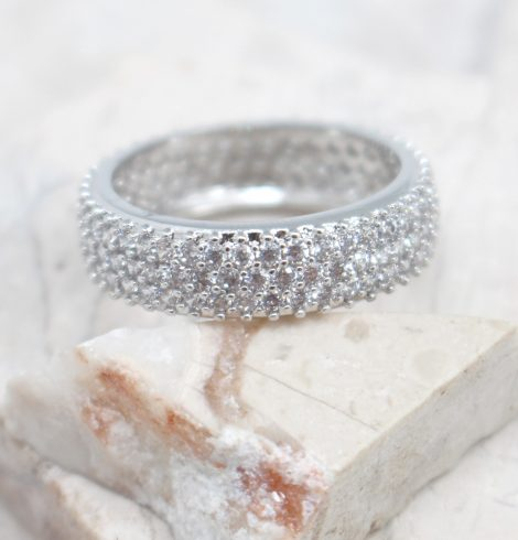 A photo of the Rhinestone Crusted Ring product