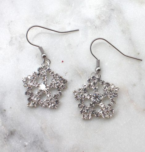 A photo of the Soft Snowflakes Earrings product