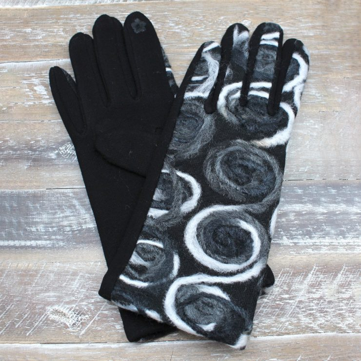 A photo of the Swirls and Curls Gloves product