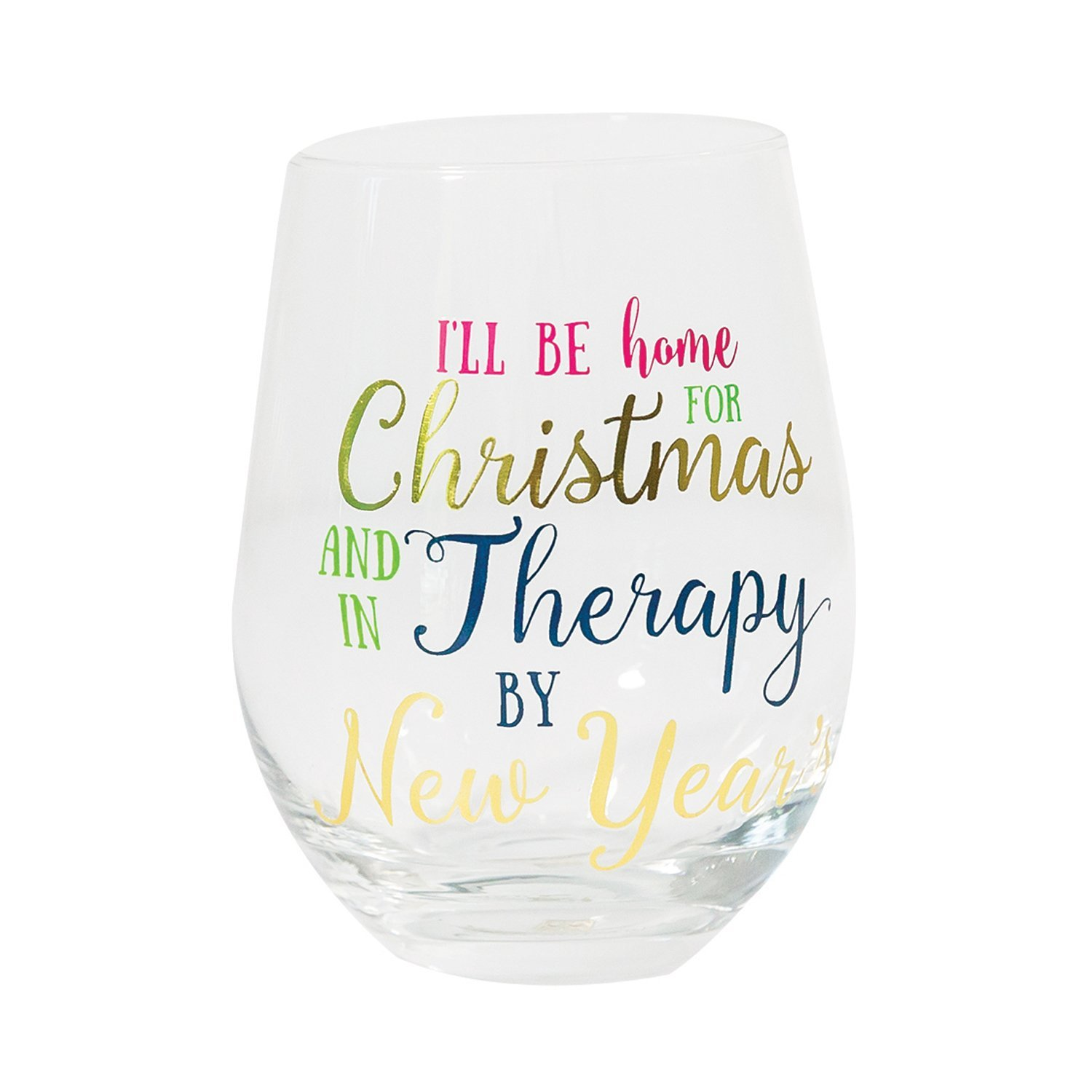Therapy By New Years Stemless Wine Glass - Best of Everything ...