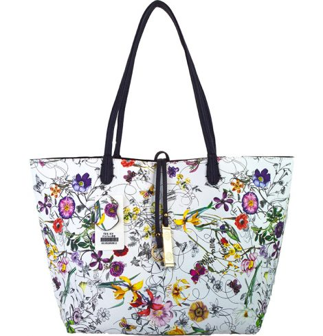 A photo of the Tropical Garden & Navy Reversible Tote product