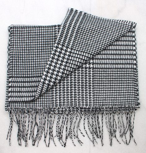 A photo of the Houndstooth Cashmere Feel Scarf product