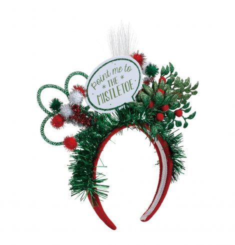 A photo of the Point Me To The Mistletoe Headband product