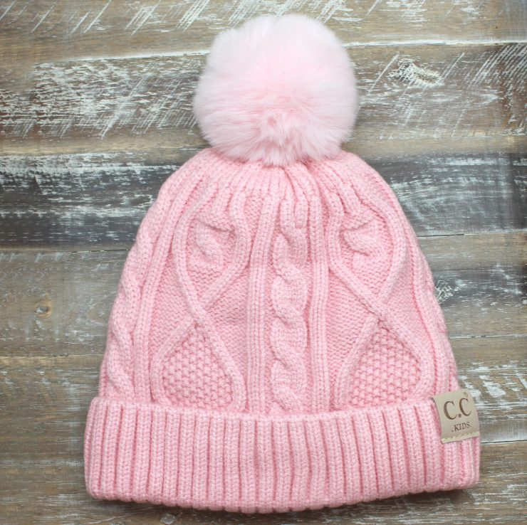 A photo of the Kids Pom Beanie product