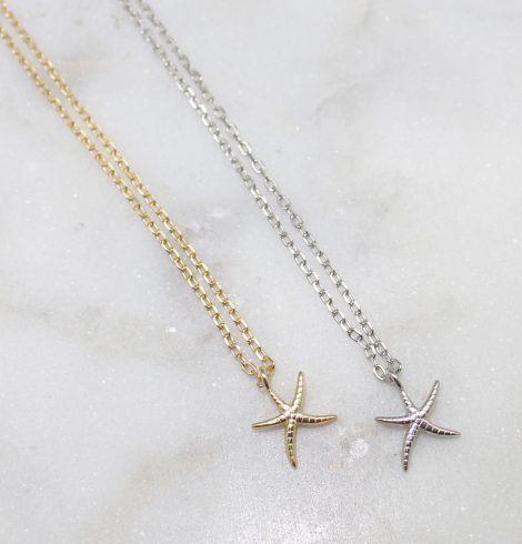 A photo of the Little Starfish Necklace product
