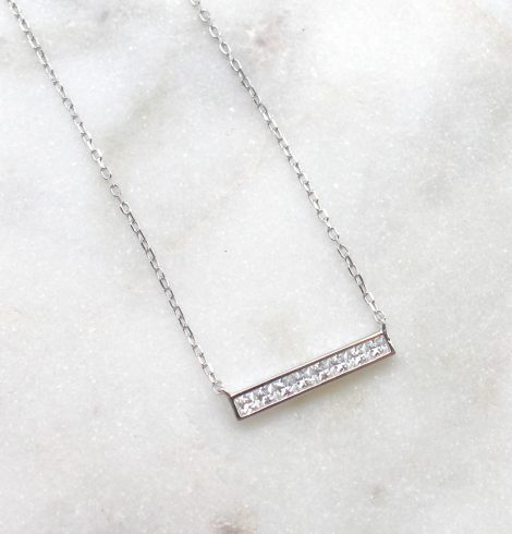 A photo of the Meet The Bar Necklace product