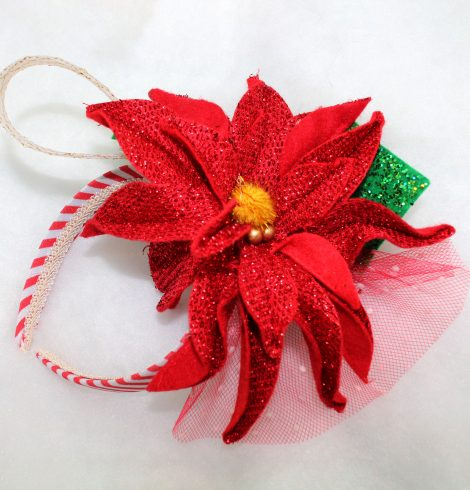 A photo of the Poinsettia Headband product