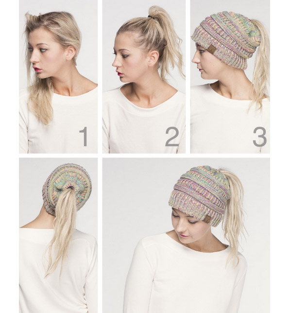 A photo of the Ponytail Beanie product