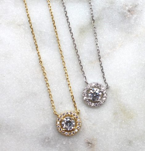A photo of the Simple Rhinestone Necklace product