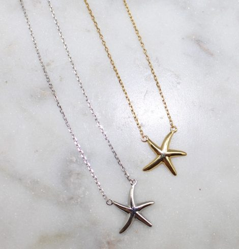 A photo of the Simple Starfish Necklace product