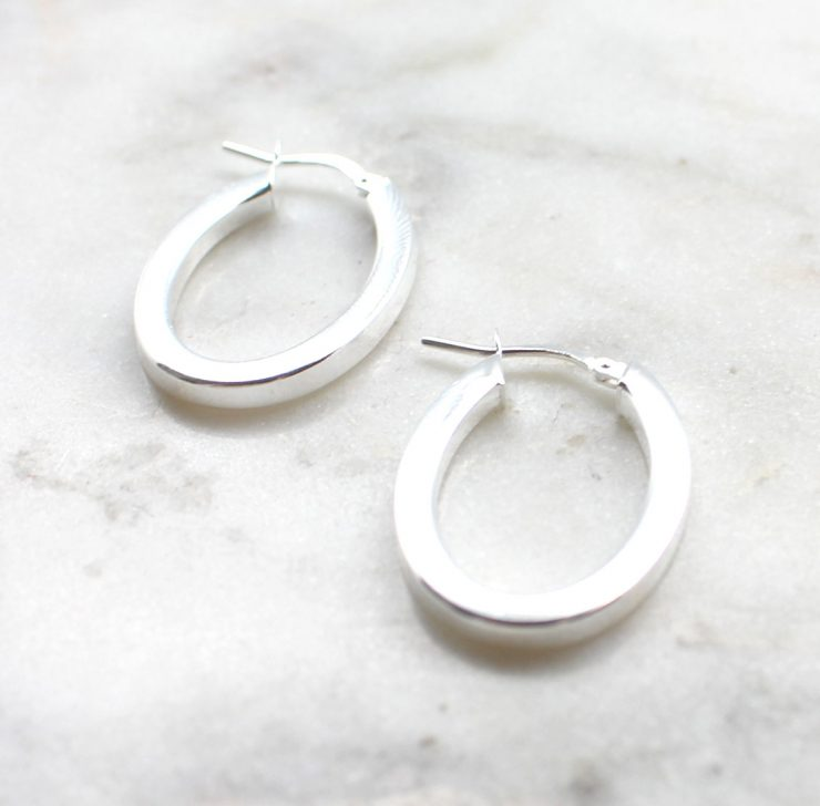 A photo of the Bari Hoop Earrings product