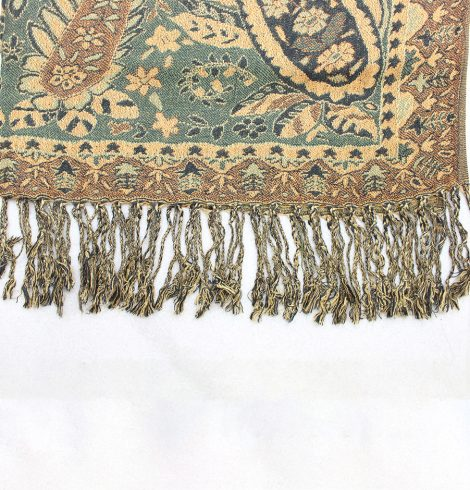 A photo of the Green & Brown Paisley Pashmina product