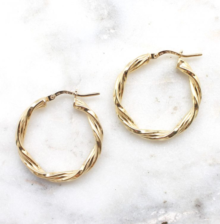 A photo of the Milan Hoop Earrings product