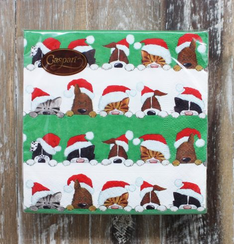 A photo of the Christmas Peek A Boo Cocktail Napkins product
