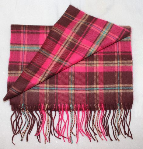 A photo of the Pink Plaid Cashmere Feel Scarf product