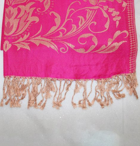 A photo of the Pink & Gold Pashmina product