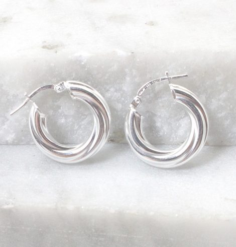 A photo of the Positano Hoop Earrings product