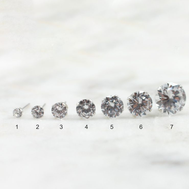 A photo of the Simple CZ Stud product