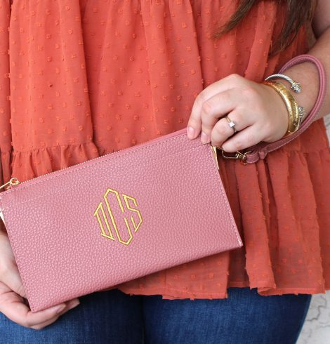 A photo of the Simply Classic Wristlet - Monogram Me! product