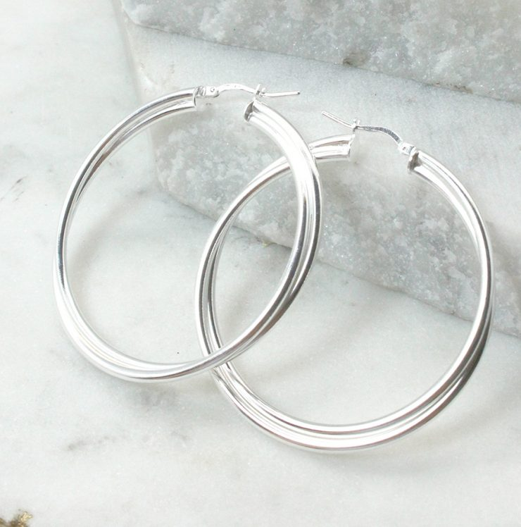 A photo of the Venice Hoop Earrings product