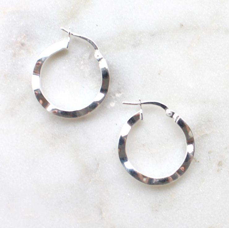 A photo of the Vicenza Hoop Earrings product