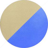 Beige & Royal Blue