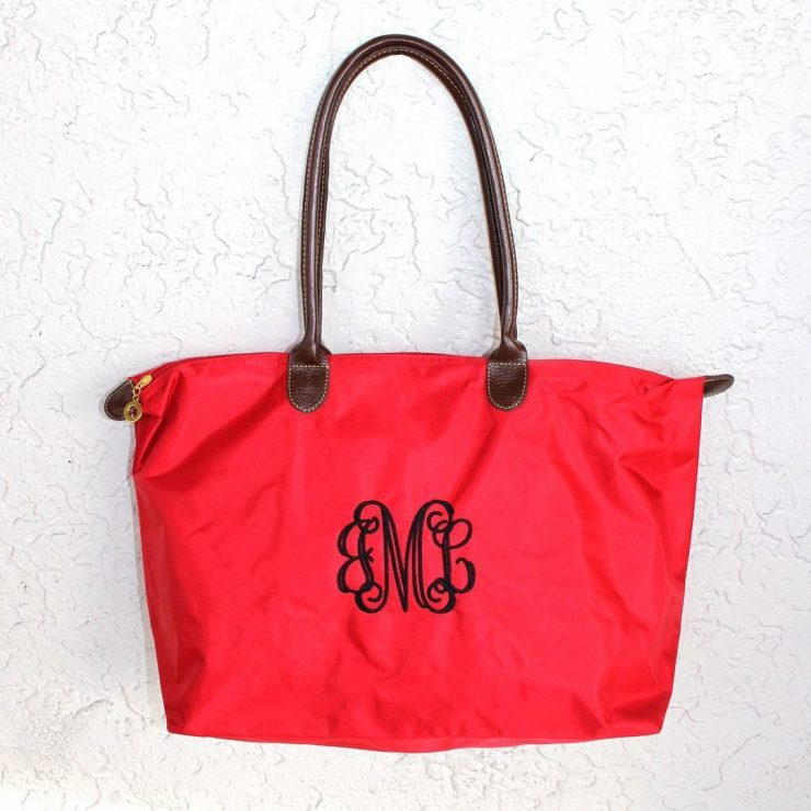 A photo of the Large Nylon Tote - Monogram Me! product