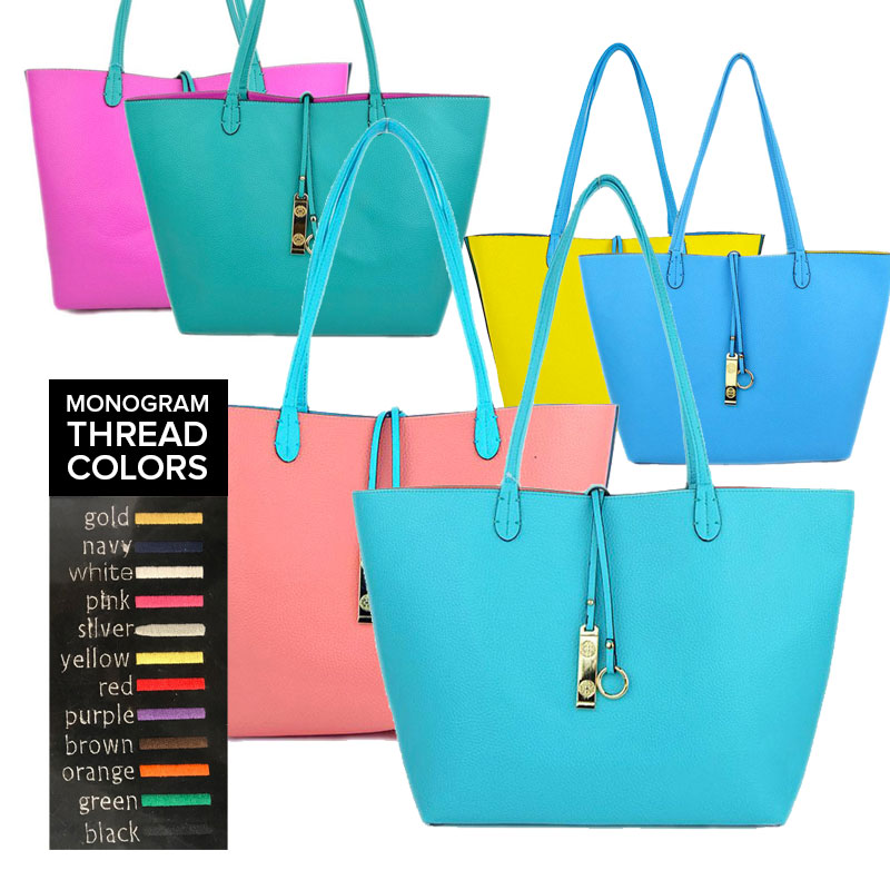 5d2cdbc3d Reversible Totes- Monogram Me! - Best of Everything | Online Shopping