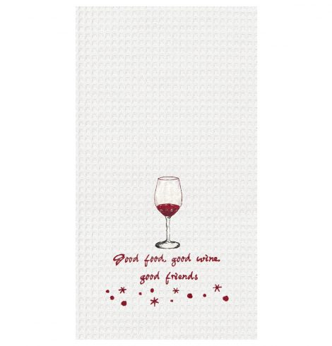 A photo of the Good Food, Good Wine Kitchen Towel product